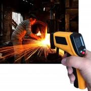 EH Pantalla LCD Sin Contacto Termometro Infrarrojo Laser IR Pistola De Temperatura Digital GM320