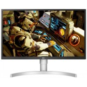 "LG 27UL550-W, 27"" UHD 4K HDR, IPS Panel Anti-Glare, 5ms, 1000:1, 300cd/m, 3840x2160, sRGB 98% Color Gamut, HDR 10, HDMI, DisplayPort, RADEON FreeSync, Headphone out, Height / Pivot / Tilt Adjustable Stand, Black"