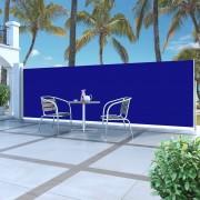 vidaXL Toldo lateral retrátil 160 x 500 cm azul