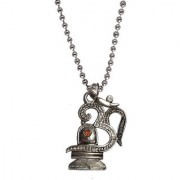 Men Style Shiv Om Silver Alloy Classic Design Pendent For Men And Women