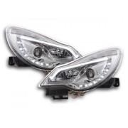 FK-Automotive fari Daylight con luci di marcia diurna Opel Corsa D anno di costr. da 2011 cromato