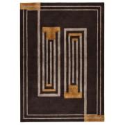 Covor Modern & Geometric Moderne, Lana, Maro/Galben, 160x230