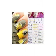 ELECTROPRIME® Women Loves Elegant 11 Kinds Multi-color 3D Sticker Gel Nail Art Stickers Decals (2 Sheet)