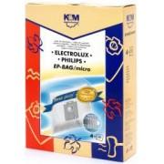 Sac aspirator Electrolux-Philips Universal S-Bag sintetic 4x saci K and M