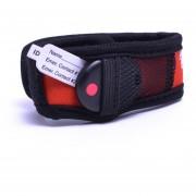 Pulsera de seguridad infantil My Buddy Tag Monitor para bebés, herramienta de apoyo en el cuidado de tus hijos, Mod. Velcro Rojo