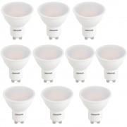 Set 10 Spoturi Led GU10, 6W, 220V lumina calda DLF 3060