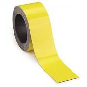 RAJAPACK Magnetische Etiketten auf der Rolle, gelb 5 m x 90 mm