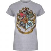 Geek Clothing Harry Potter Women's Hogwarts Crest T-Shirt - Sport Grey - XXL - Grey