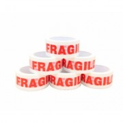 Adhesive Warning Tape 'FRAGILE' Polypropylene / Pack of 6