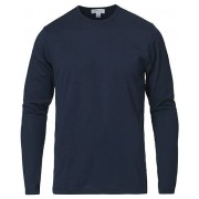 Sunspel Long Sleeve Crew Neck Tee Navy