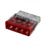 Set 10 conectori cu fixare prin impingere 4 conductoare 2,5mm2 24A Wago 2273-204