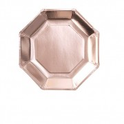 Ginger Ray Assiettes Rose Gold x8