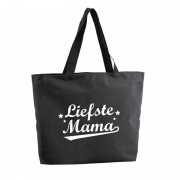 Bellatio Decorations Liefste Mama shopper cadeau tas zwart 47 cm