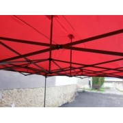 Záhradný párty stan DELUXE nožnicový - 3 x 3 m červená