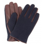 Profuomo Leder-Handschuh Nappa Dunkelblau Braun - Dunkelblau 9