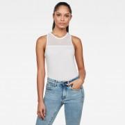 G-star RAW Femmes Débardeur Mesh Optic Slim Blanc