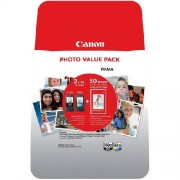 Canon Original Tintenpatrone MultiPack schwarz + color +50 Blatt Fotopapier 3712C004
