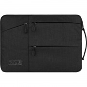 WIWU Traveler Sleeve Multi-pocket Laptop Case Bag with Handle for 12-inch Laptop - Black