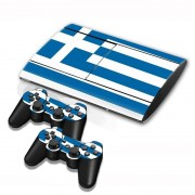 Sony Greek Vlag patroon Stickers voor PS3 Game Console