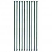 vidaXL 10 db zöld kerti növénytámasztó rúd 1 m