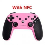 RFGHJ Controlador inalámbrico Bluetooth Gamepad inalámbrico para Switch Pro Gamepad PC para Switch Controller Joystick, rosa