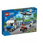 Playset City Police Helicopter Transport Lego 60244