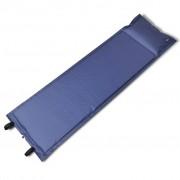 vidaXL Синя, самонадуваща се постелка 185 x 55 x 3 см (единична)