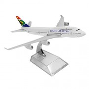 South African Boeing 747 16cm Metal Airplane Models Child Birthday Gift Plane Models Home Decoration