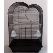 Max 618če Klec černá pro ptáky na papoušky 470 x 360 x 700 mm