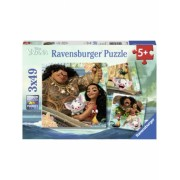 Puzzle Vaiana, 3X49 Piese Ravensburger