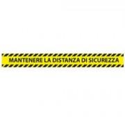 """> Adesivi da terra - 90x10 cm - """"Mantenere la distanza di sicurezza"""" - Studio T - conf. 5 pezzi (unit"""