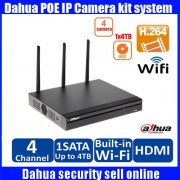 Original English firmware DAHUA 4ch WIFI P2P NVR with dahua Logo The Latest Model NVR4104HS-W-S2 upgrade NVR4104-W