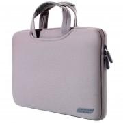 15,4 Pulgadas Portatil De Mano Bolsa Permeable Al Aire Manga Para Macbook Air / Pro, Lenovo Y Otros Laptops, Tamaño: 38x27.5x3.5cm (gris)