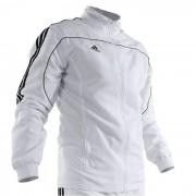 Adidas Overallsjacka Vit med Svarta ränder