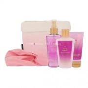 Victoria´s Secret Love Addict 125ml за Жени - подхранващ спрей за тяло 125 ml + крем за тяло 60 ml + мляко за тяло 125 ml + лента за коса + кошница за кърпи