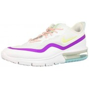 Nike Air MAX Sequent 4.5--103 Tenis para Correr para Mujer, Color White/Luminous Green-Hyper Violet, 9