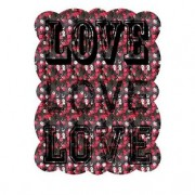 Placa de Metal Love Placa Decorativa de Metal Love Amor