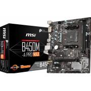 MSI B450M-A PRO MAX - Moederbord - Micro-ATX - Socket AM4 - AMD B450 - DDR4 - 6x USB 2.0, 6x USB 3.2 Gen 1