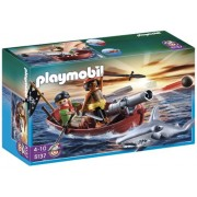 Playmobil Pirates Rowboat with Shark