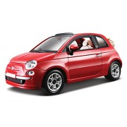 Bburago 15622117 - Fiat 500c Cabriolet 1:24