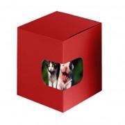 Cutie rosie cadou cani personalizate