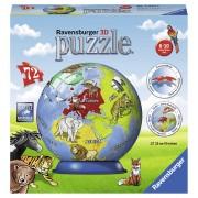 PUZZLE 3D GLOB, 72 PIESE - RAVENSBURGER (RVS3D11840)