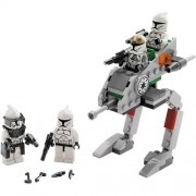 "Lego Star Wars Movie Series ""The Clone Wars"" Battle Pack Set # 8014 - Clone Walker with 2 Clone Troo"