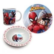 Set mic dejun 3 piese ceramica Spiderman