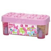 Jucărie de construit în cutie Maxi Abrick Écoiffier de cuburi mari 7785 roz