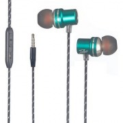 Talgo T-880 Metal Series Earphones Stylishly Designed with MIC and Volume Control TALGO-HS-116-GREEN