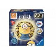 Puzzle 3D Minions Cu Lumina 72 Piese.Taiate si indoite in mod diferit pentru fiecare model in parte