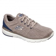 Skechers Men Flex Advantage 3.0 Stally Taupe Blue