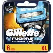 Gillette Fusion5 ProShield Chill Razor Blades for Men - 6 Count