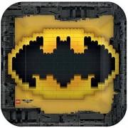 AMERICAN GREETINGS Boy's Lego Batman Square Plate (8 Count), 9